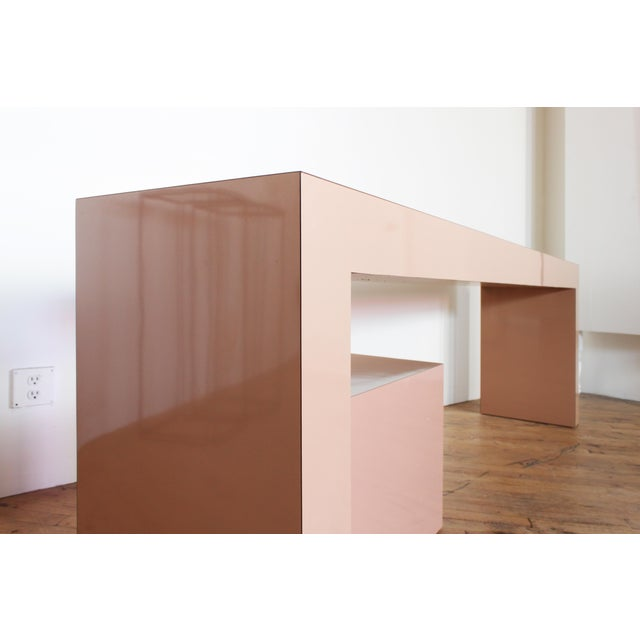 Pace Post Modern Parson's Table- Laminate Console Table and Plinth For Sale - Image 4 of 5