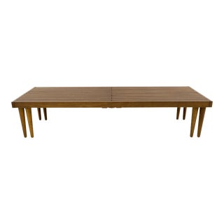 Vintage Mid Century John Keal for Brown Saltman Expandable Bench For Sale