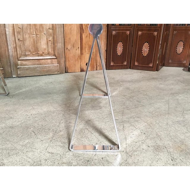 Mid 20th Century Mid-Century Modern Mirrored Polished Aluminium Sawhorse Table Desk For Sale - Image 5 of 11