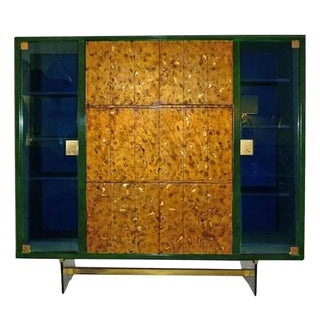 Raphael Rare Drop Front Libraire Cabinet in Original Lacquer France circa 1962 For Sale