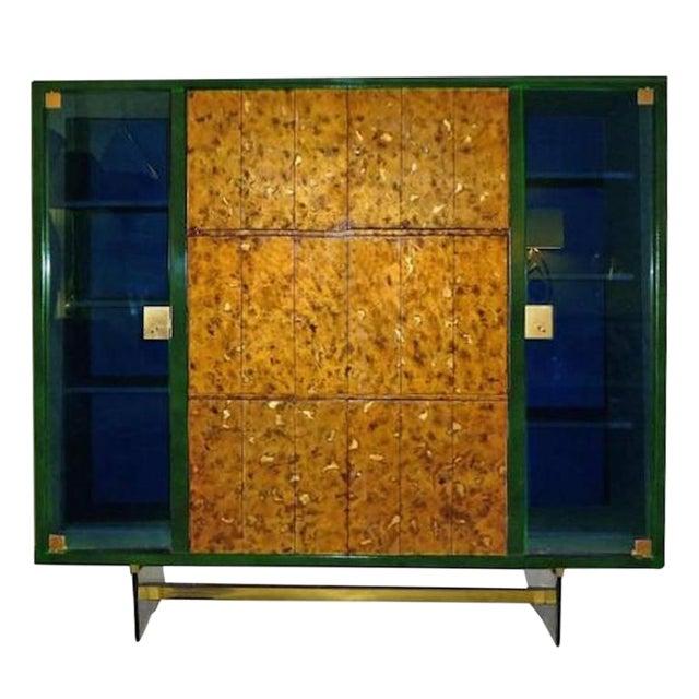 Raphael Rare Drop Front Libraire Cabinet in Original Lacquer France circa 1962 For Sale