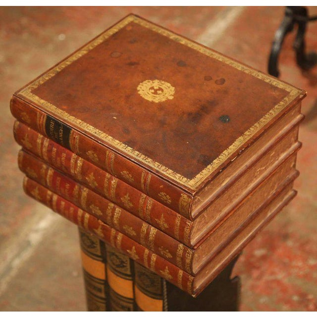 Mid-20th Century French Stacked Book End Table on Wheels For Sale - Image 4 of 8