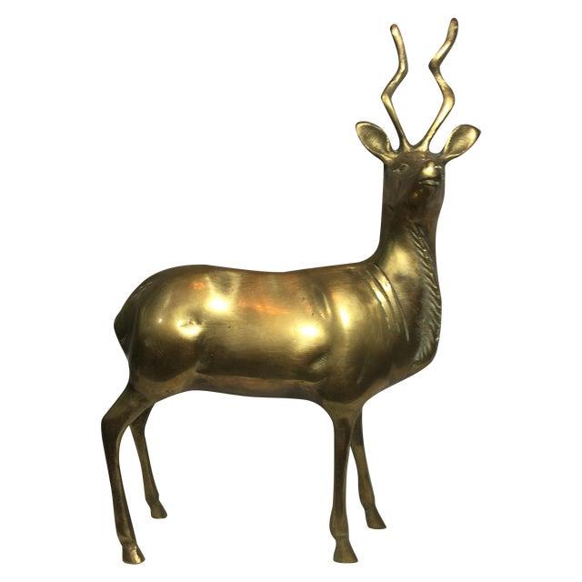 Brass Kudu Sculpture - Image 1 of 4