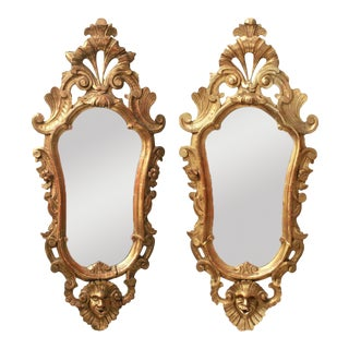Italian Baroque Revival Giltwood Mirrors - a Pair For Sale