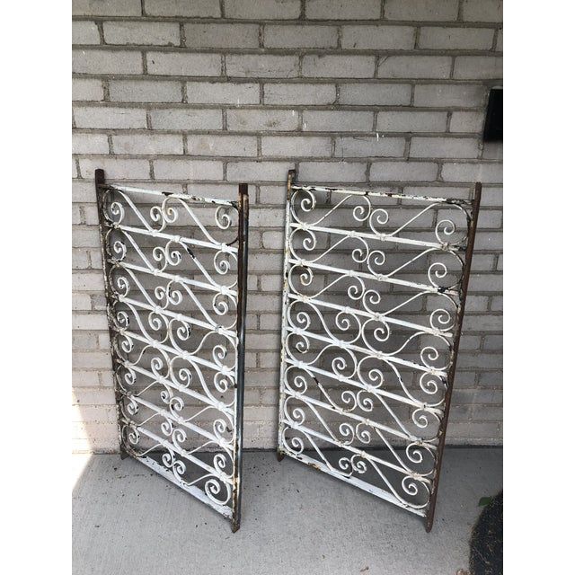 19th Century Victorian Wrought Iron Balustrade Sections - a Pair For Sale - Image 13 of 13