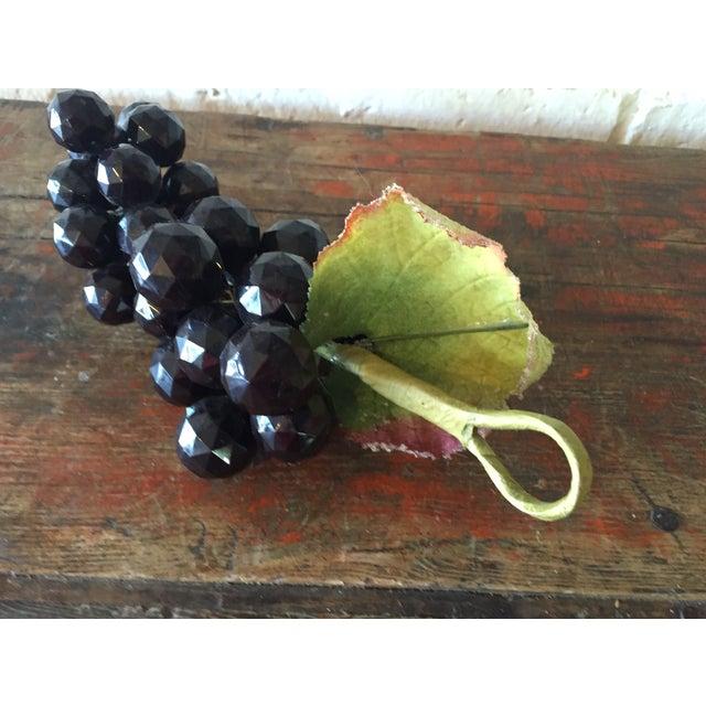 Plastic Dark Purple Grape Cluster - Image 4 of 5