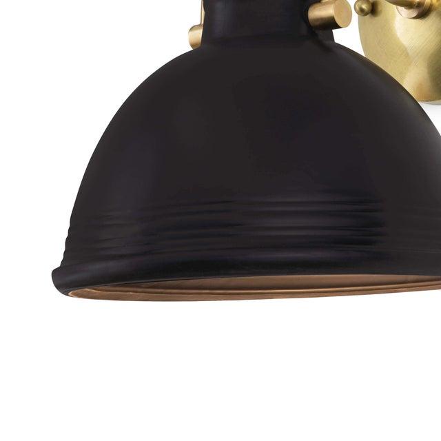 Eloise Ceramic Sconce in Black For Sale - Image 4 of 6