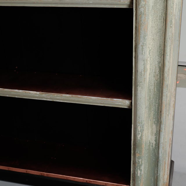 19th Century Door Frame Bookcase with Copper Lined Shelves For Sale - Image 10 of 11