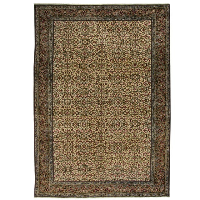 "Floral Kayseri Carpet - 6'6"" x 9'4"" For Sale"