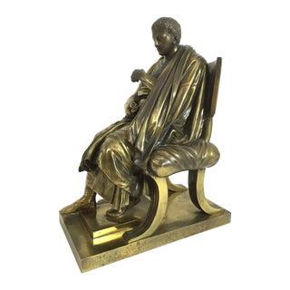 Grand Tour Bronze Caesar Statue For Sale