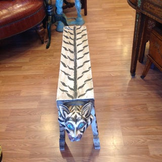 """Carved """"Tiger"""" Motif Bench Preview"""