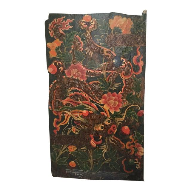 Antique Tibetan Monastery Dragon Door For Sale