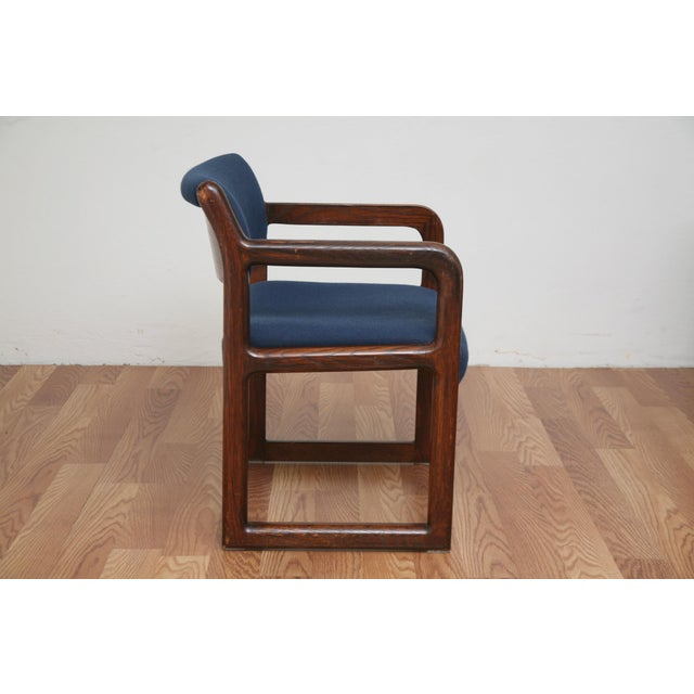 Mid-Century Modern Vintage 1970s Mid-Century Modern Wooden Chair For Sale - Image 3 of 11
