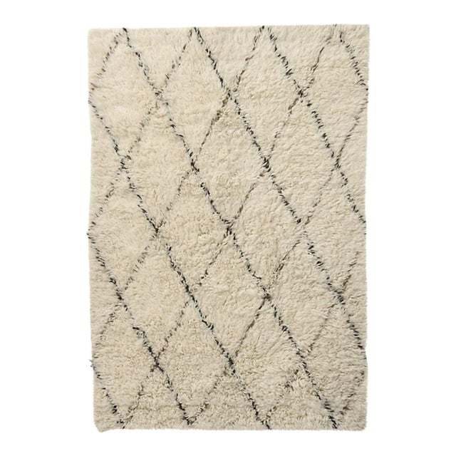 Anthropologie Amala Flokati Rug - 5″ × 7″ For Sale