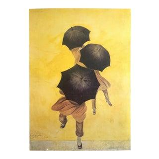 """Leonetto Cappiello Rare Vintage 1992 Lithograph Print Parisian Poster """"Les Parapluies Revell"""" 1922 For Sale"""
