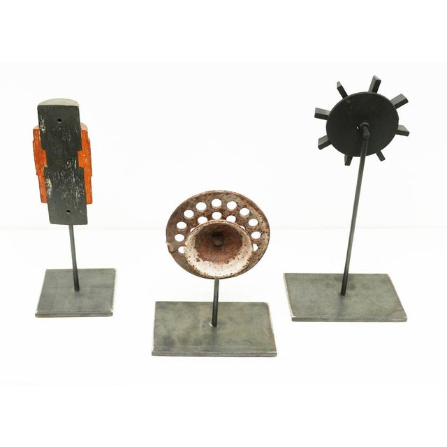 Industrial Industrial Mold Sculptures - Set of 3 For Sale - Image 3 of 8