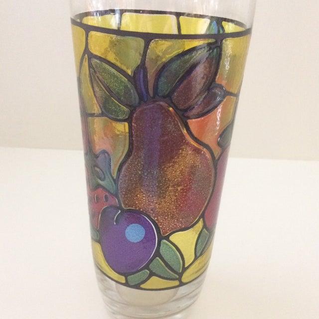 Glass Vintage Mosaic 24 Oz. Fruit Pattern Cocktail Shaker For Sale - Image 7 of 11
