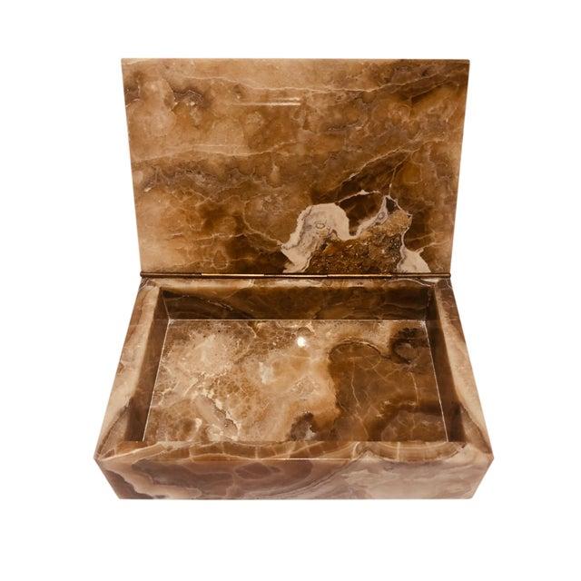 Vintage Mid-Century Travertine Box For Sale - Image 4 of 6