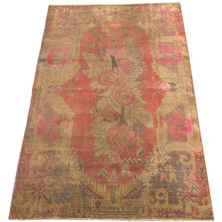 Antique Samarkand Rug 8'6'' X 5'2'' For Sale