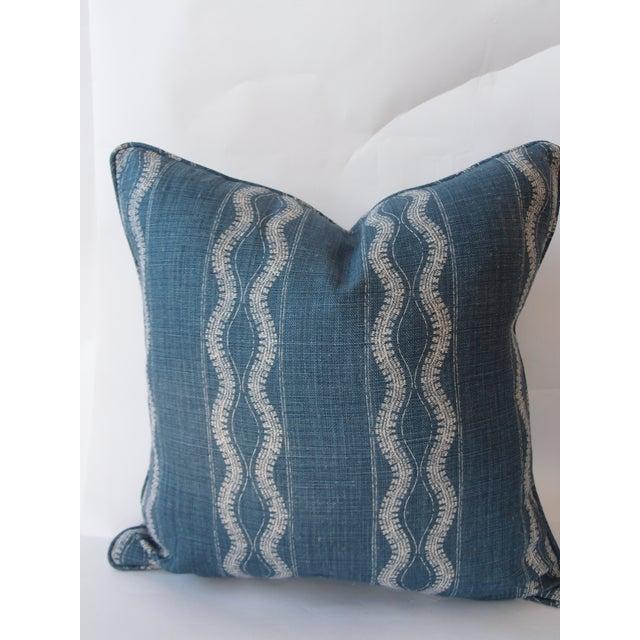 Indigo Blue and White Pillow - Image 2 of 4
