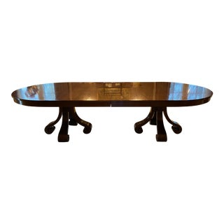 Custom Double Pedestal O'Kelly Extendable Dining Table For Sale