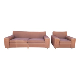 Vintage Mid-Century Swenson Furniture Sofa & Chair- 2 Pieces For Sale