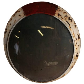 Mid-20th Century French Industrial Convex Mirror For Sale