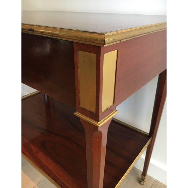Mahogany and Brass Console Table Attributed to Maison Jansen - Image 3 of 11
