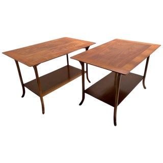t.h. Robsjohn-Gibbings-Klismos Sabre Leg Side Tables For Sale