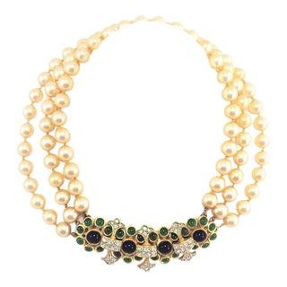 Vintage K. J. L. For Laguna Pearl Necklace For Sale