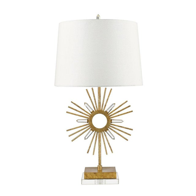 Mid-Century Modern Sun King Table Lamp For Sale - Image 3 of 7