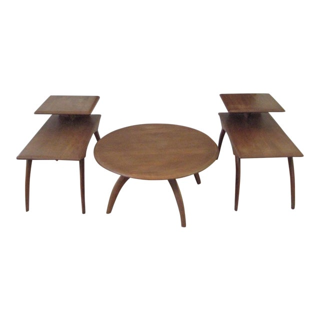 Heywood Wakefield Mid-Century Coffee Table & End Tables