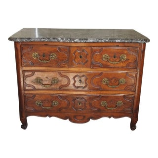 Louis XV Period and Signed Walnut Commode For Sale