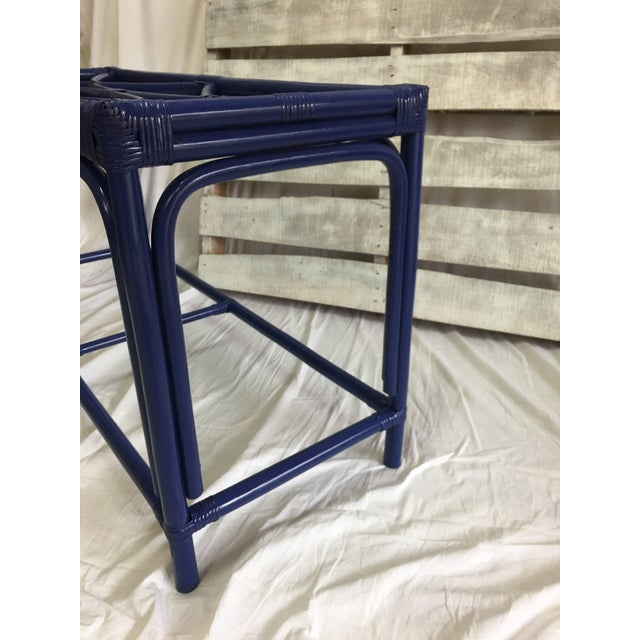 Royal Blue Tani Wood Console Table - Image 8 of 11