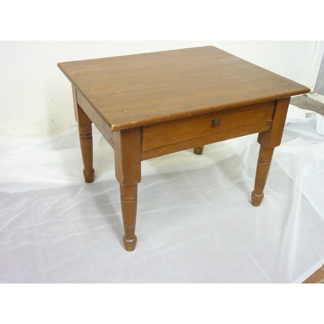19th Century Vintage Low Table For Sale In Portland, ME - Image 6 of 6