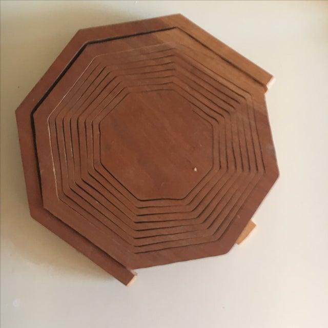 Brutalist Style Modern Handmade Collapsing Basket - Image 5 of 5