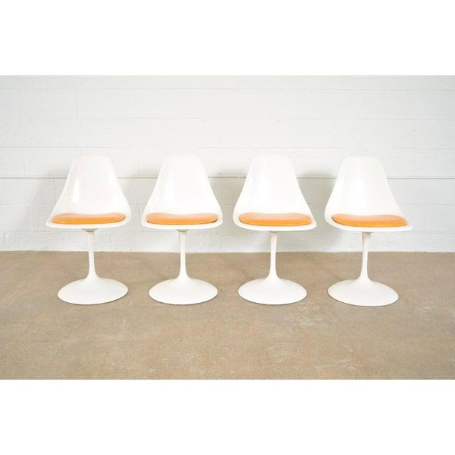 Mid-Century Saarinen Style Tulip Pedestal Dining Set - Set of 5 - Image 7 of 11