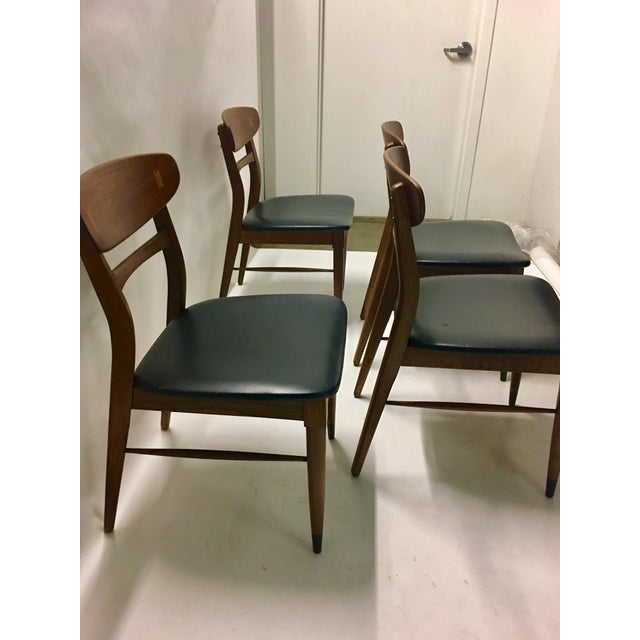 Black Mid Century Modern Danish Chairs - Set of 4 For Sale - Image 8 of 12