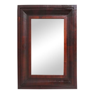 Early 20th Century Empire Style Mahogany Veneer Mirror For Sale