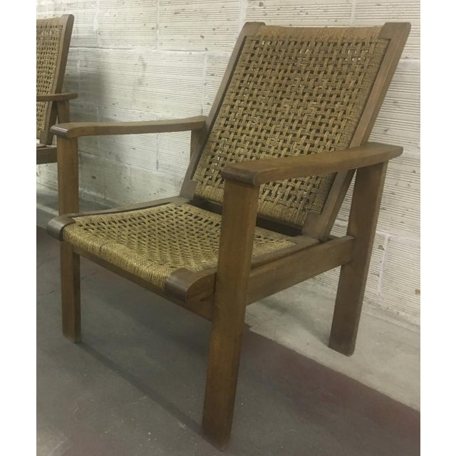 French Riviera Style Pair of Reclining Rope Lounge Chair For Sale - Image 6 of 8