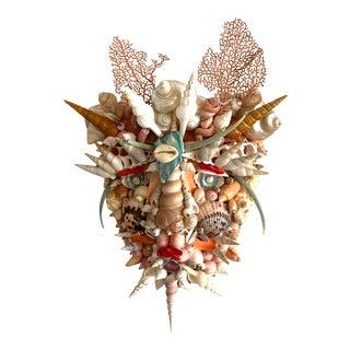 Commedia Del Arté 'Arlecchino' Shell Mask For Sale