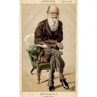 "1871 ""Charles Darwin"" Vanity Fair Portrait Lithograph Print For Sale"