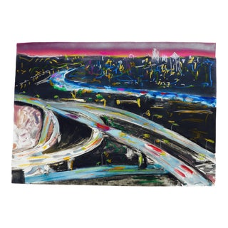 Los Angeles Freeway at Twilight For Sale