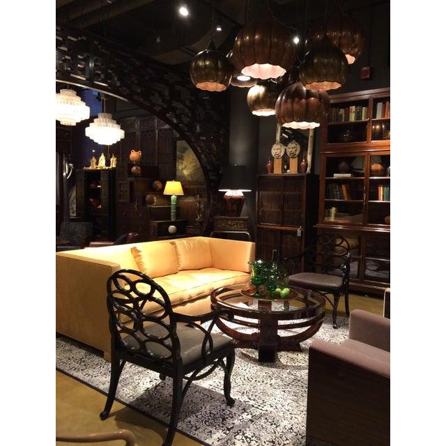 """Truex American Furniture """"Loop Chair"""" Ebony Leather - Image 4 of 4"""