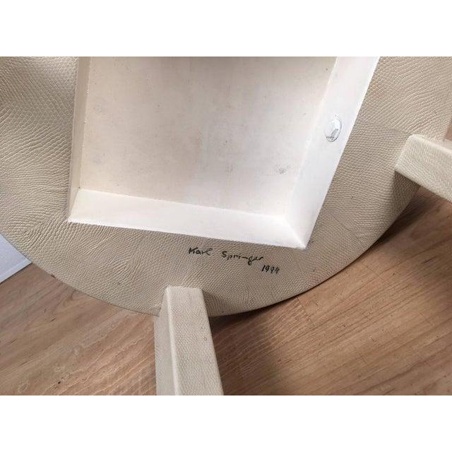 Karl Springer Albino Python Side Table - Image 6 of 12