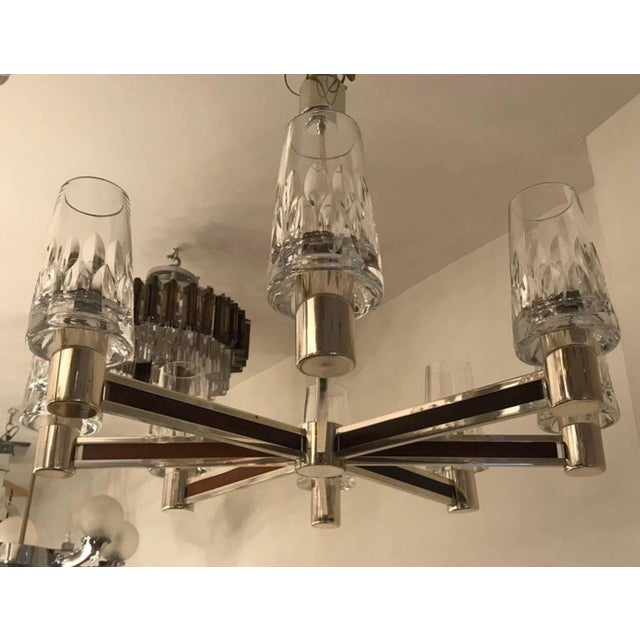 1970s German High Style Crystal Chandelier For Sale - Image 4 of 10