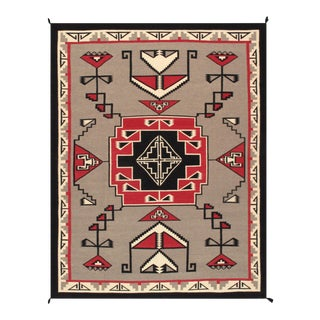 Contemporary Navajo Style Wool Area Rug - 9′2″ × 11′9″ For Sale