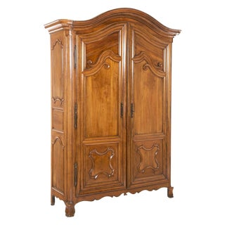 Late 18th Century French Fruitwood Chateau Armoire For Sale