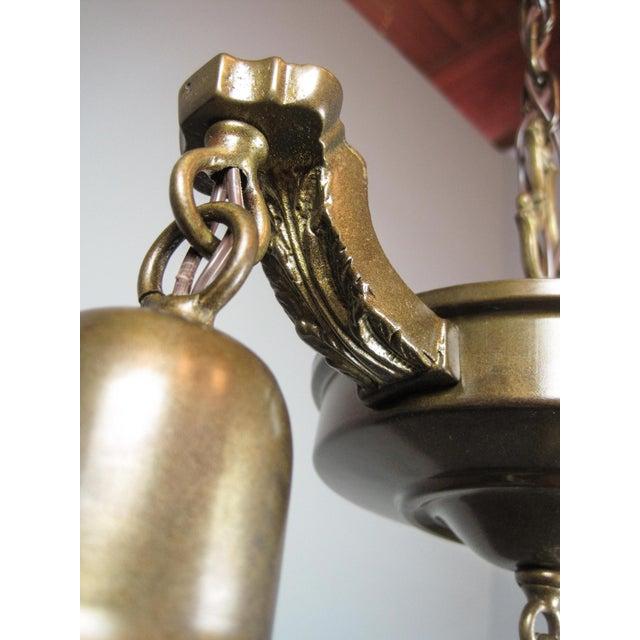 Original Antique Pan Light Fixture (2-Light) - Image 6 of 7