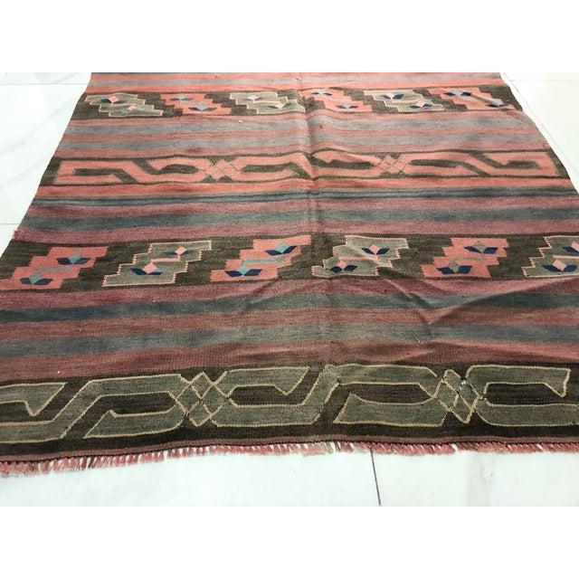 Turkish Tribal Handmade Kilim Rug - 4′ × 8′1″ For Sale - Image 9 of 11